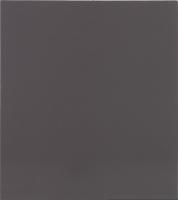 A solid Davy's gray rectangle acoustic panel.