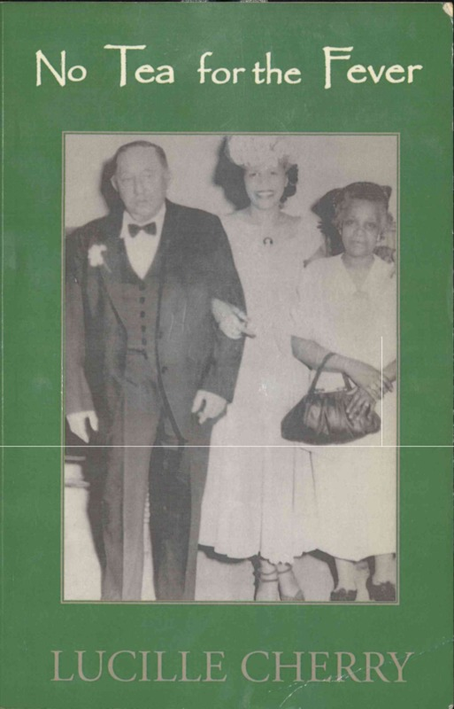 Book cover illustrating two women in white holiday dresses and a man in a formal attire.