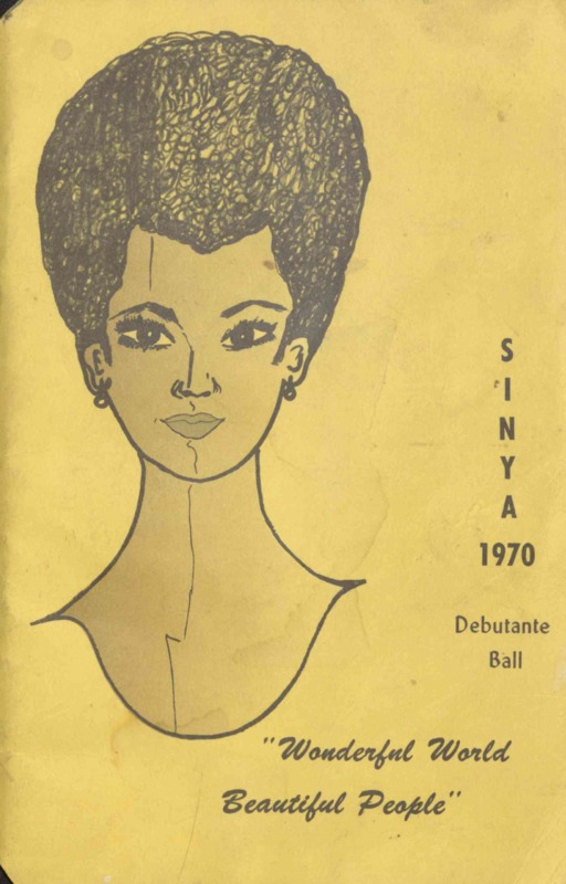 Program brochure illustrating woman's face.