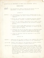 A constitution outlining the goals of a new organization.