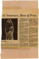 Newspaper clipping featuring pliers and a sphere in between their forceps.