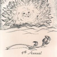 Program brochure featuring a sun and a rose lying on the sand.