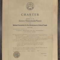 Charter for the Easton Branch of the NAACP