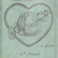 Program brochure illustrating a heart and Earth.