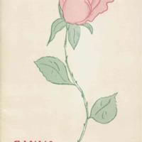Program brochure illustrating a rose.