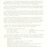 A pamphlet detailing the history of the Society for the Improvement of Negro Youth Activities (SINYA).