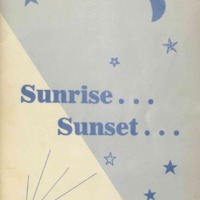 Program brochure illustrating sun, moon, and stars.