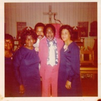 Melvin Stewart, the Second Baptist Choir Director, and Reverend Clarence Clark in 1970s