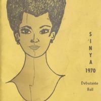 Program brochure illustrating woman's face.